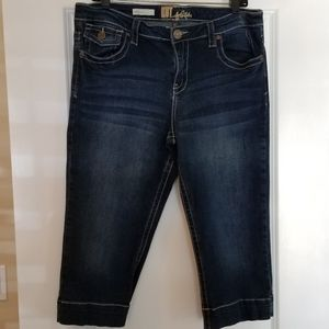 Kut from the Kloth Nicole Crop Jeans Shorts EUC 12